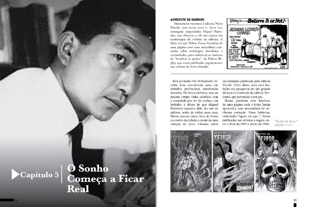 Os Três Mundos de R. F. Lucchetti de Nobu Chinen e O Samurai do Traço, Julio Shimamoto de Dario Chaves